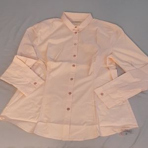 Burberry Peach XL LONG SLEEVE SHIRT with Scarf